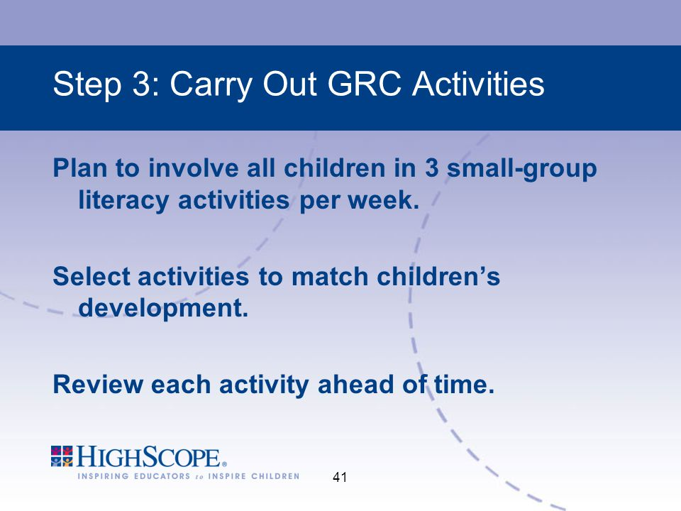 Step 3: Carry Out GRC Activities