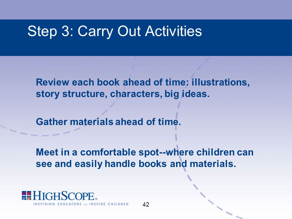Step 3: Carry Out Activities