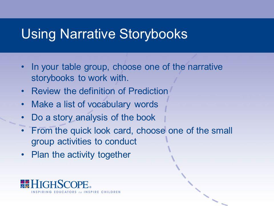 Using Narrative Storybooks