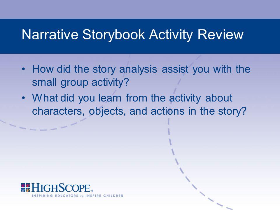 Narrative Storybook Activity Review