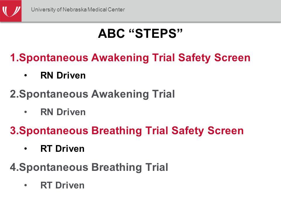 ABC STEPS Spontaneous Awakening Trial Safety Screen