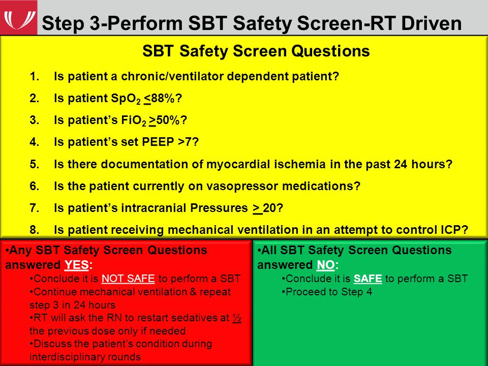 Step 3-Perform SBT Safety Screen-RT Driven