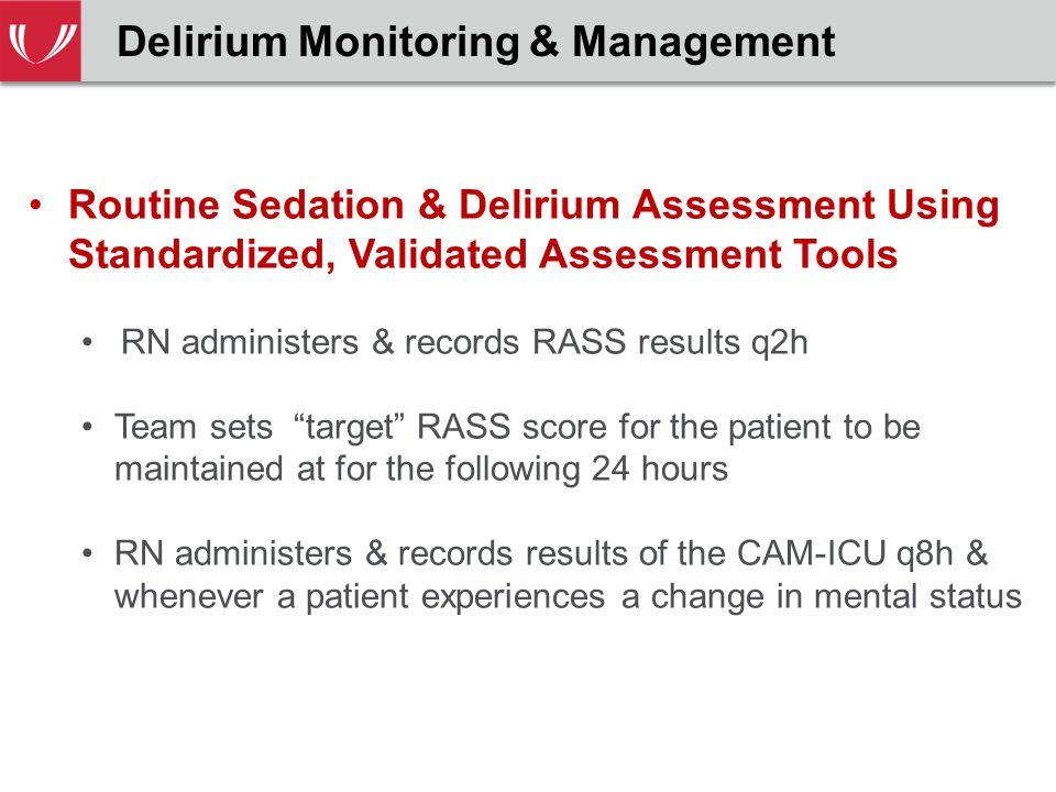 Delirium Monitoring & Management