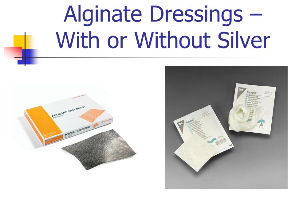 Alginate Dressings – With or Without Silver