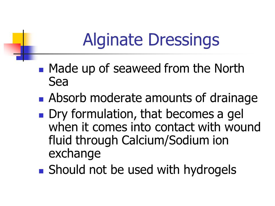 Alginate Dressings Made up of seaweed from the North Sea