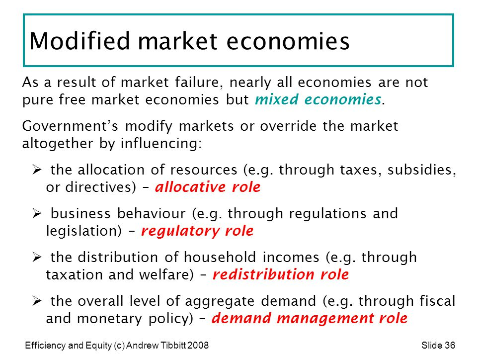 Modified market economies