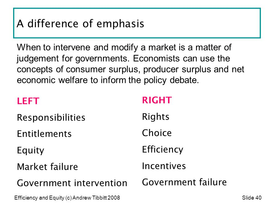 A difference of emphasis