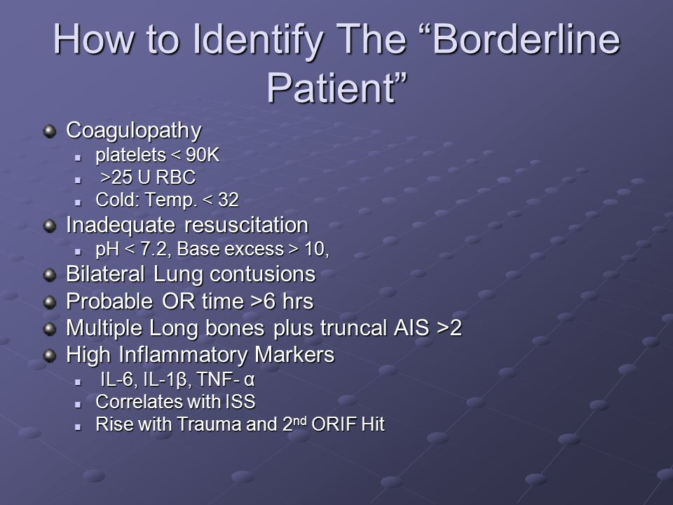 How to Identify The Borderline Patient