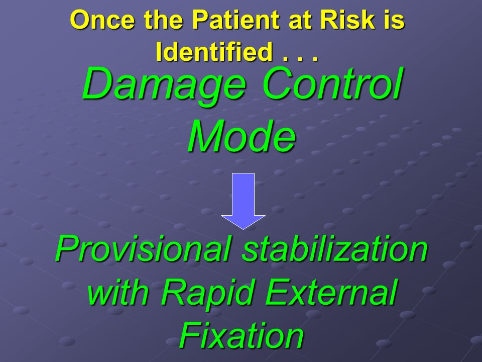 Once the Patient at Risk is Identified . . .