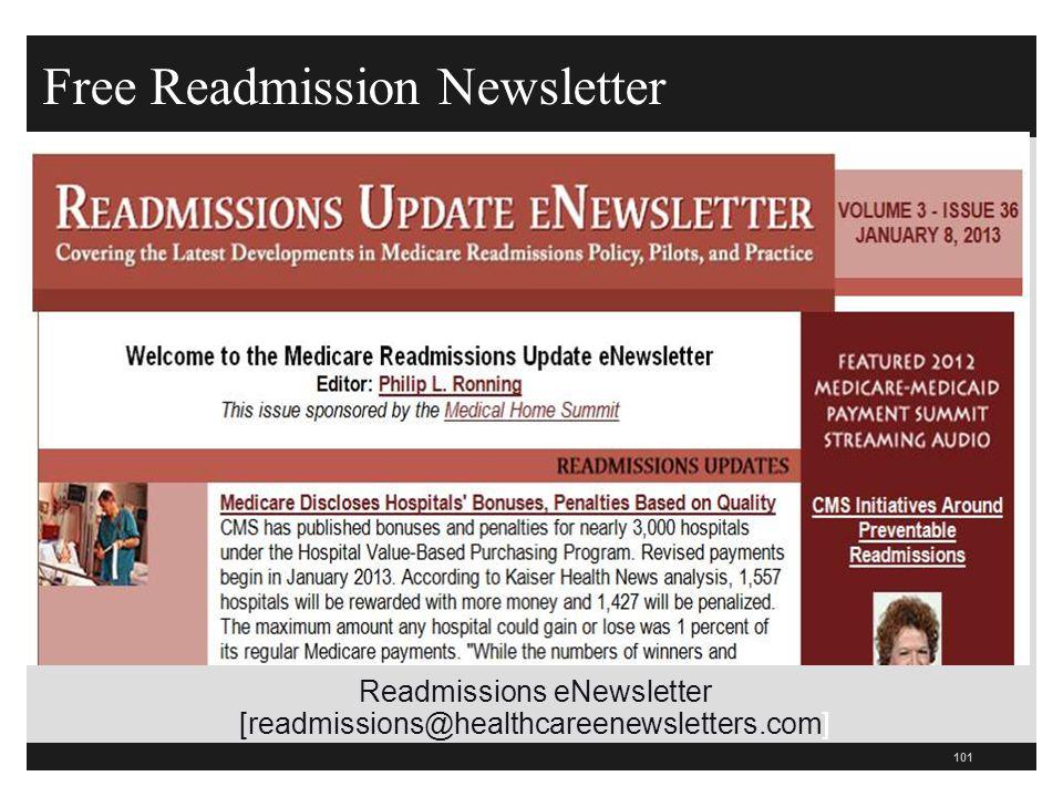 Free Readmission Newsletter