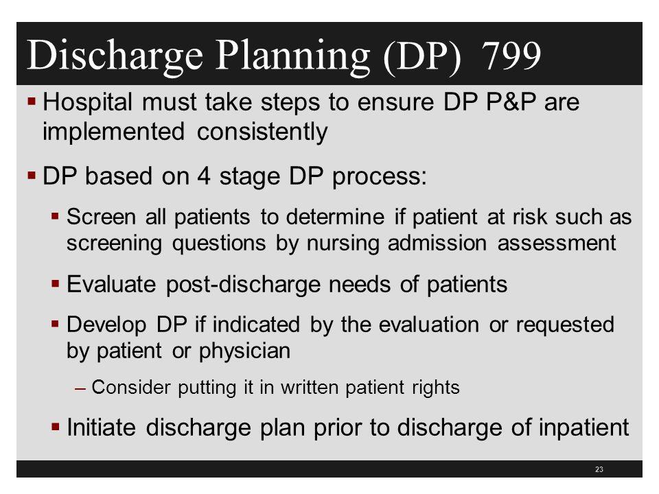 Discharge Planning (DP) 799