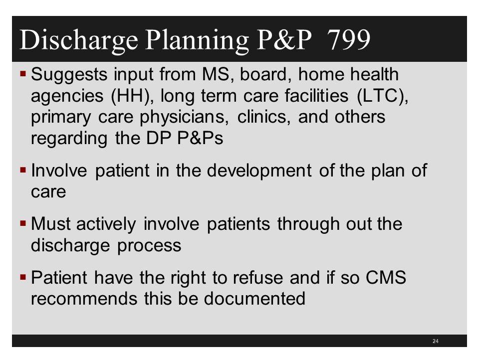 Discharge Planning P&P 799