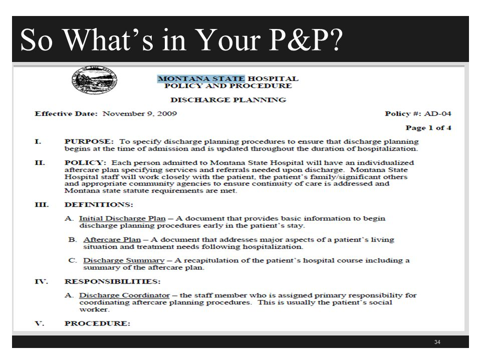 So What's in Your P&P