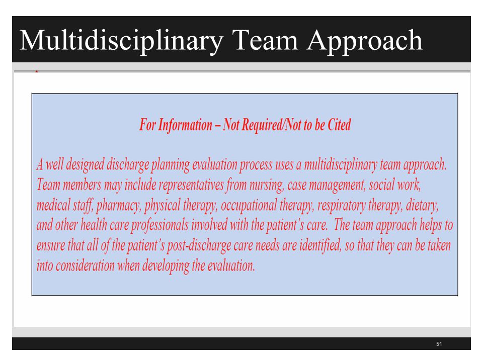 Multidisciplinary Team Approach