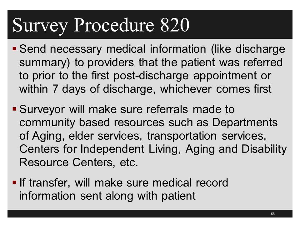 Survey Procedure 820