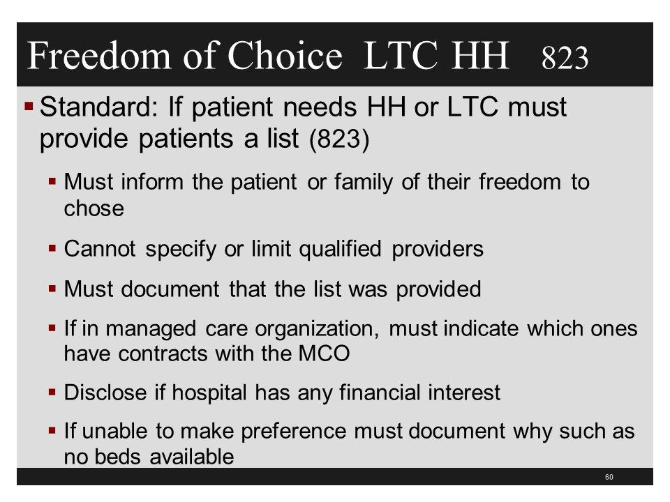 Freedom of Choice LTC HH 823