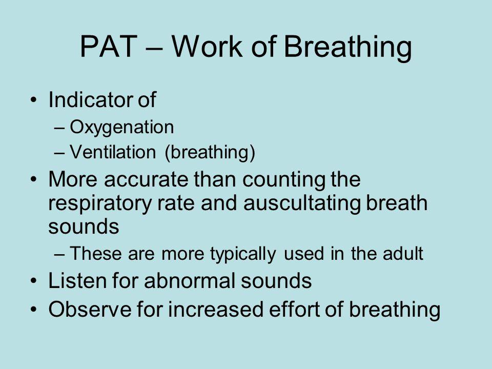 PAT – Work of Breathing Indicator of