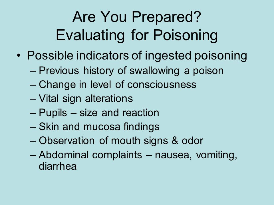 Are You Prepared Evaluating for Poisoning