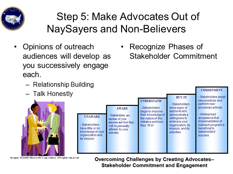 Step 5: Make Advocates Out of NaySayers and Non-Believers