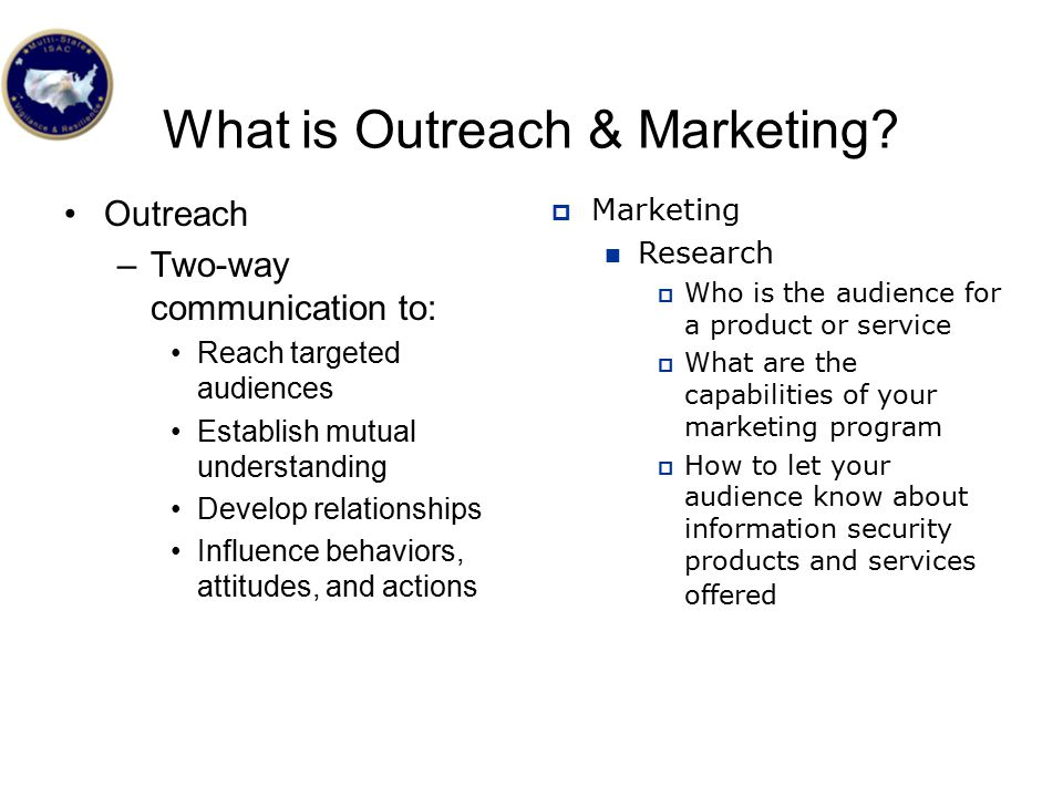What is Outreach & Marketing