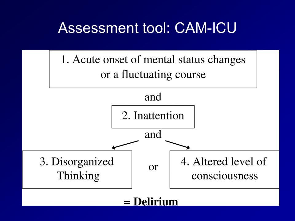 Assessment tool: CAM-ICU