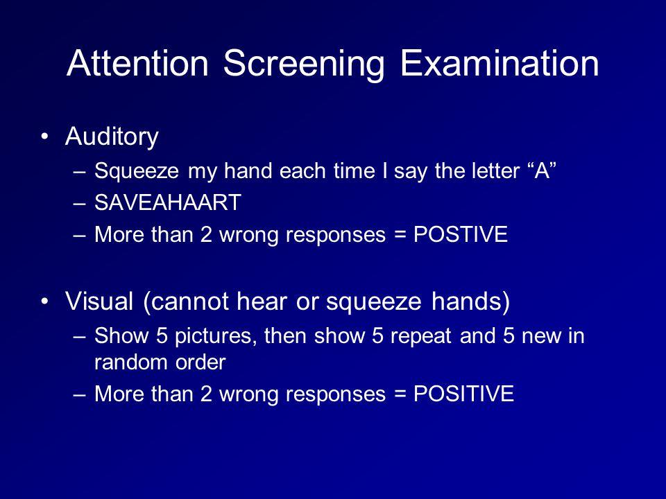 Attention Screening Examination