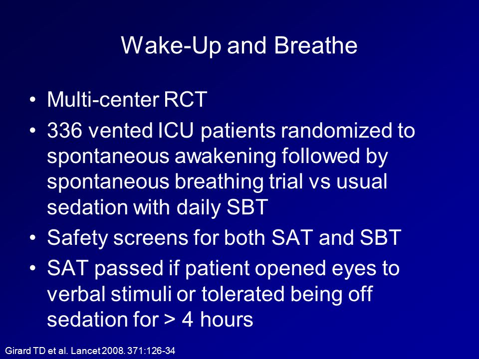 Wake-Up and Breathe Multi-center RCT