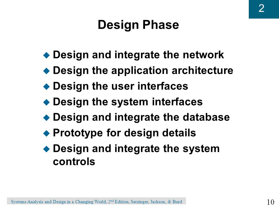 Design Phase Design and integrate the network