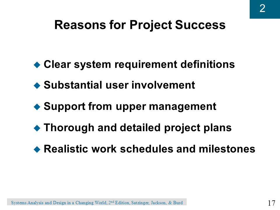 Reasons for Project Success