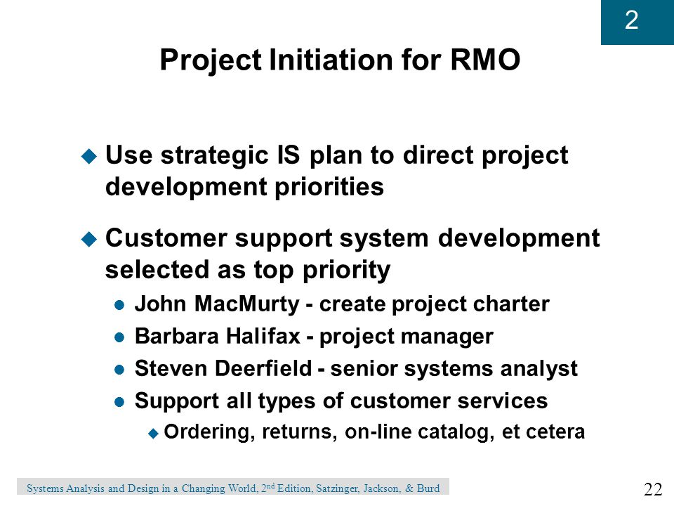 Project Initiation for RMO