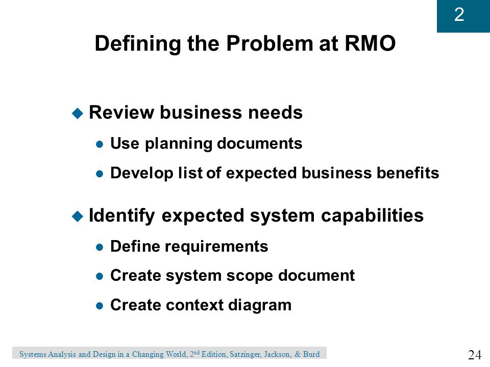 Defining the Problem at RMO