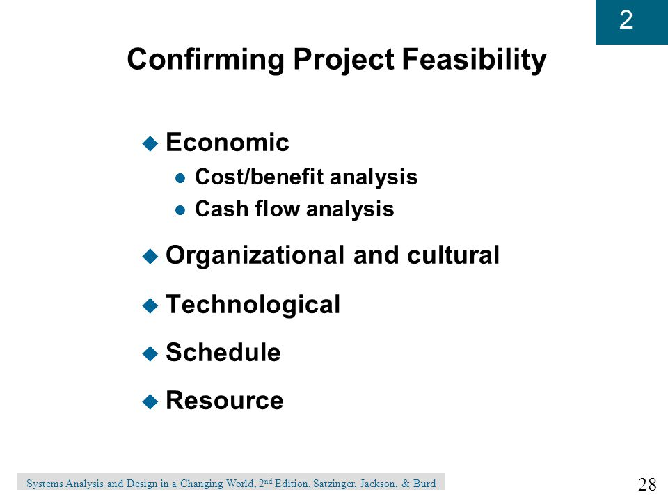 Confirming Project Feasibility