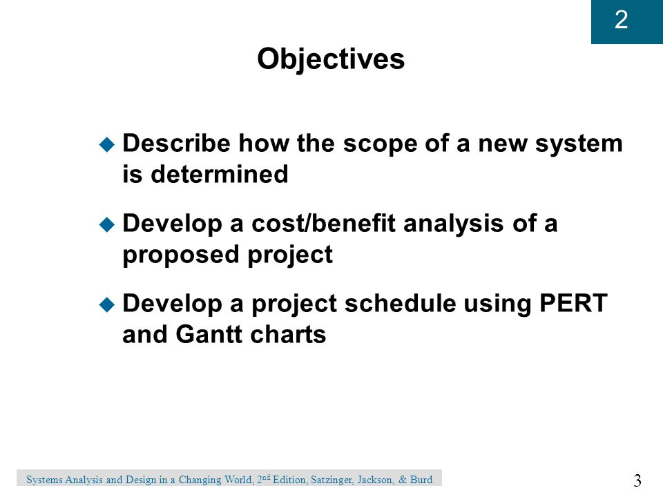 Objectives Describe how the scope of a new system is determined