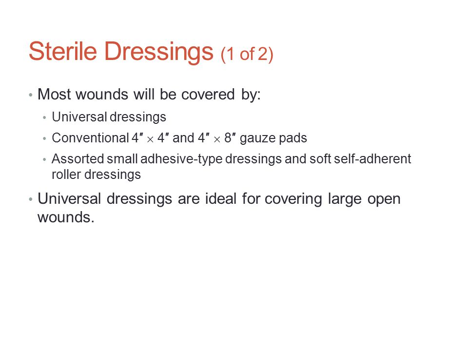 Sterile Dressings (1 of 2)