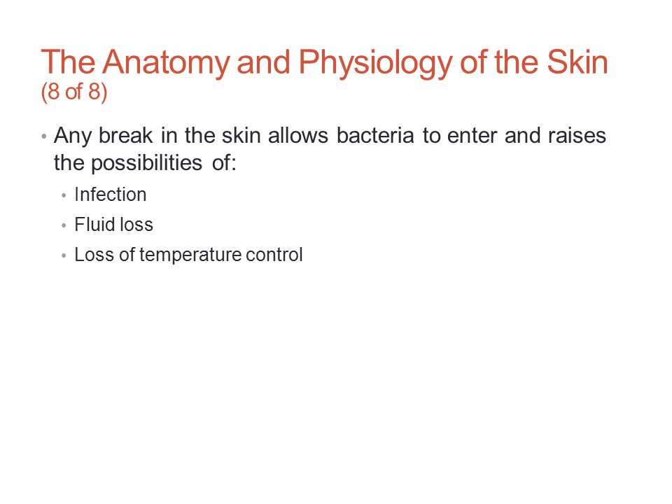 The Anatomy and Physiology of the Skin (8 of 8)