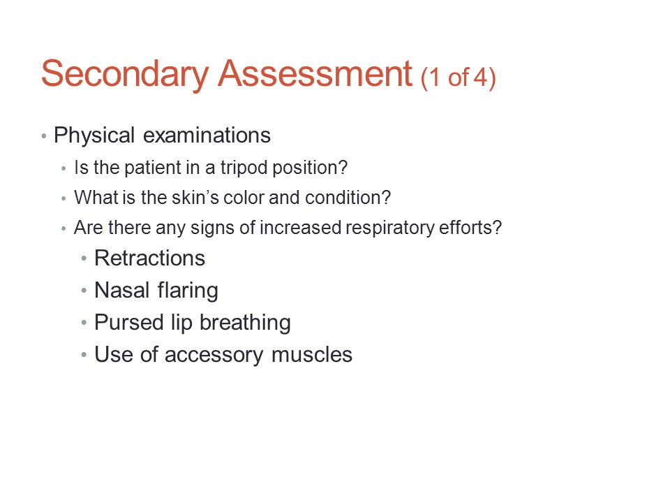 Secondary Assessment (1 of 4)