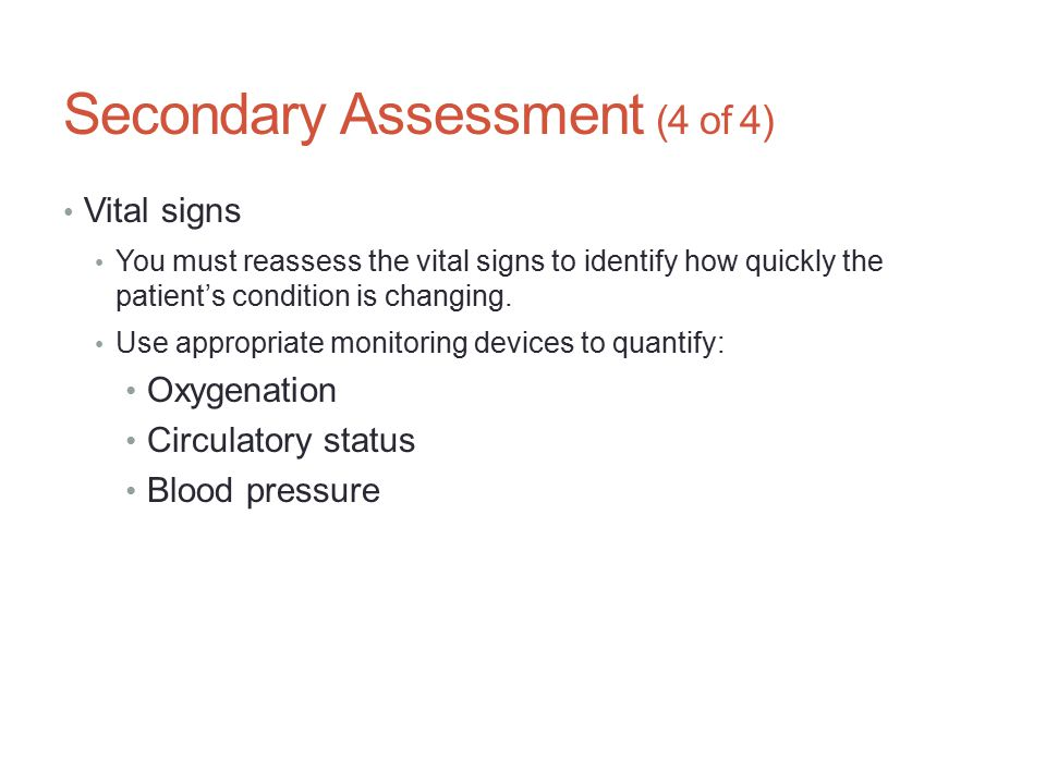 Secondary Assessment (4 of 4)
