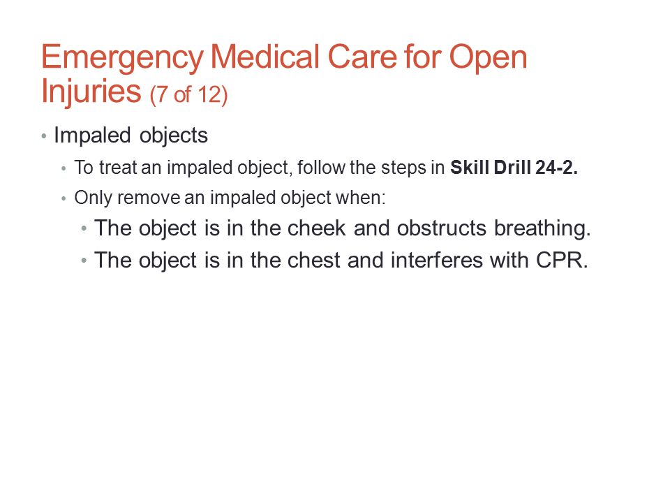 Emergency Medical Care for Open Injuries (7 of 12)