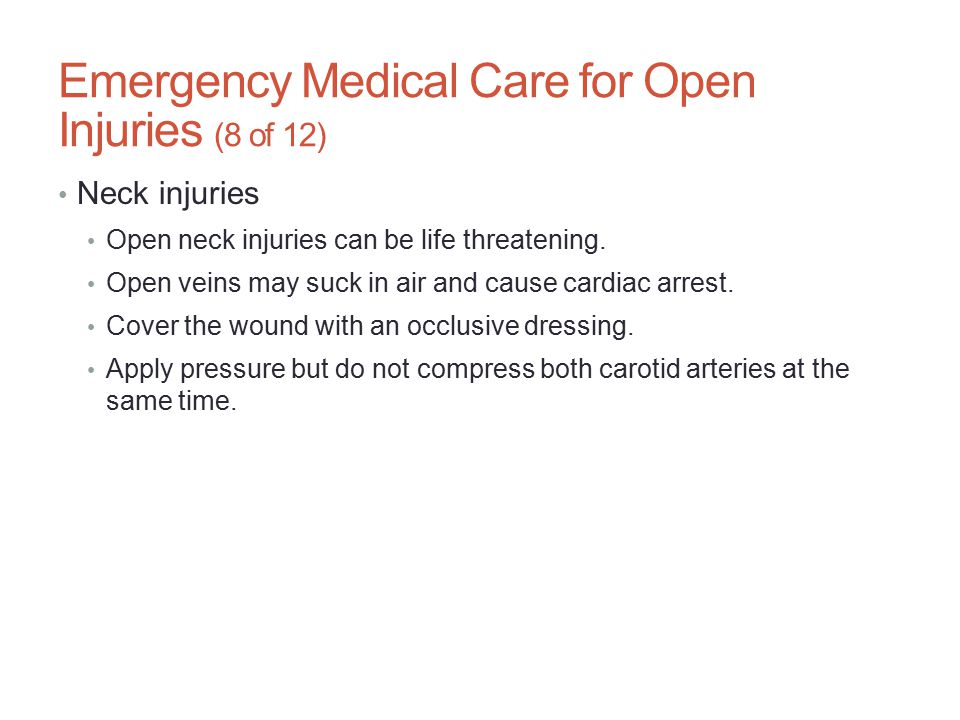 Emergency Medical Care for Open Injuries (8 of 12)