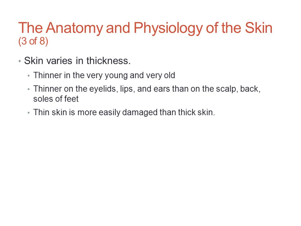 The Anatomy and Physiology of the Skin (3 of 8)