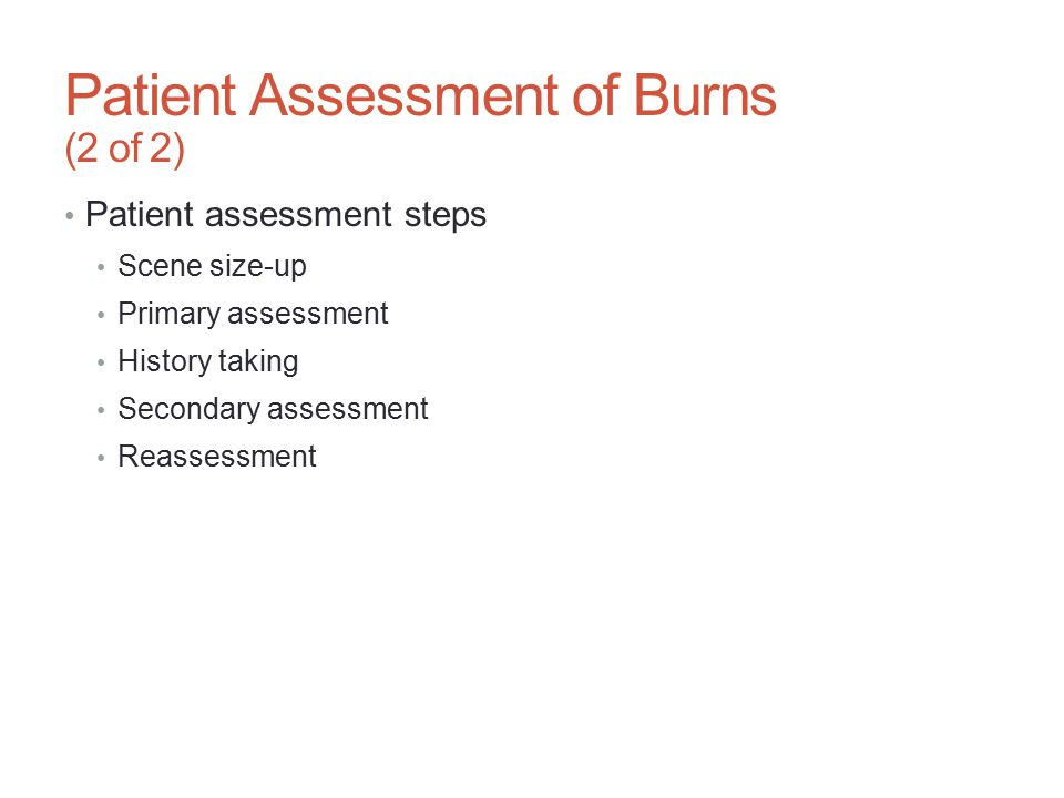 Patient Assessment of Burns (2 of 2)