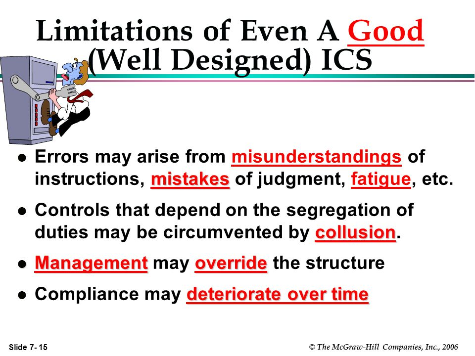 Limitations of Even A Good (Well Designed) ICS