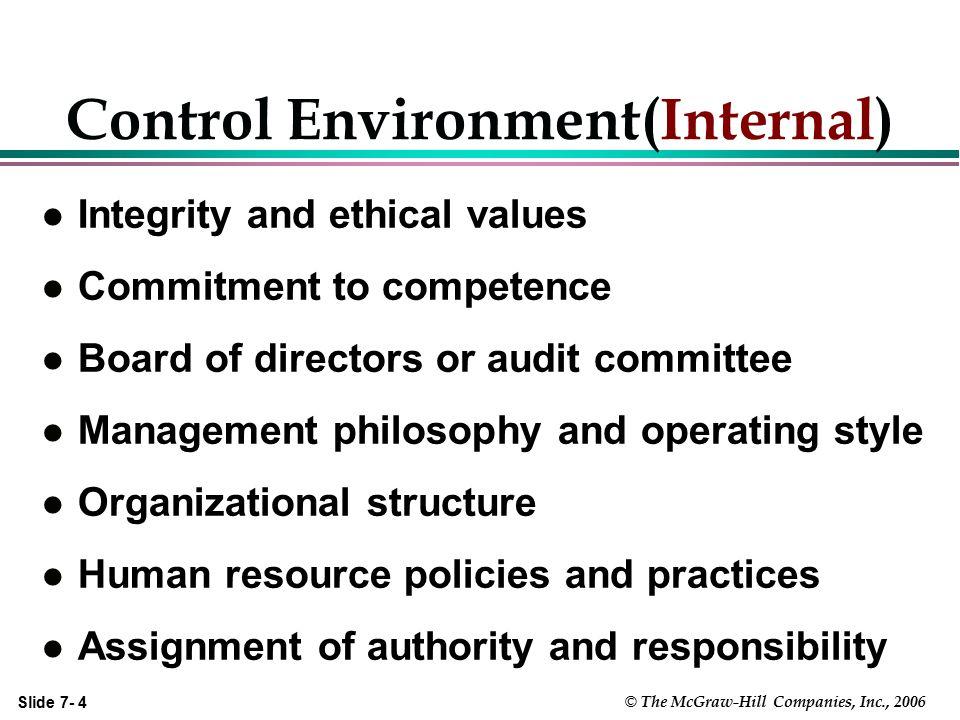 Control Environment(Internal)