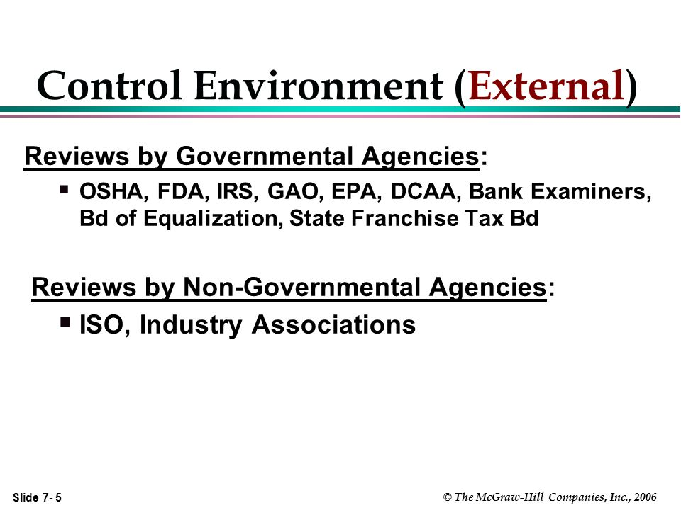 Control Environment (External)