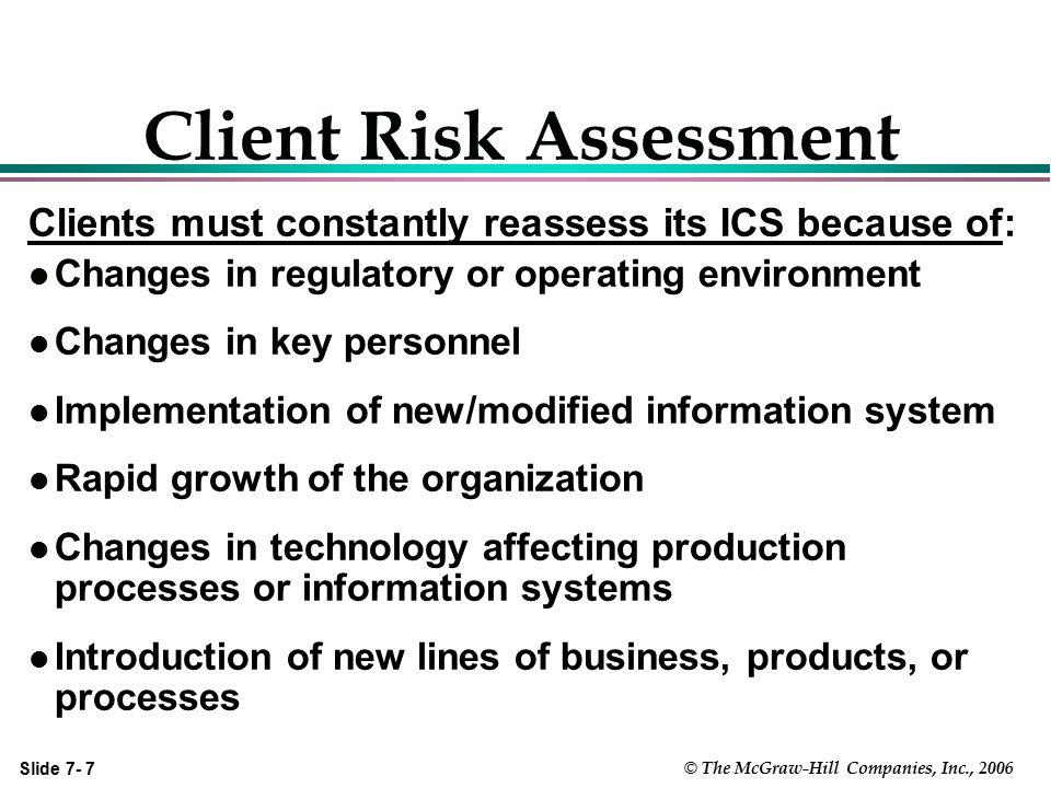 Client Risk Assessment