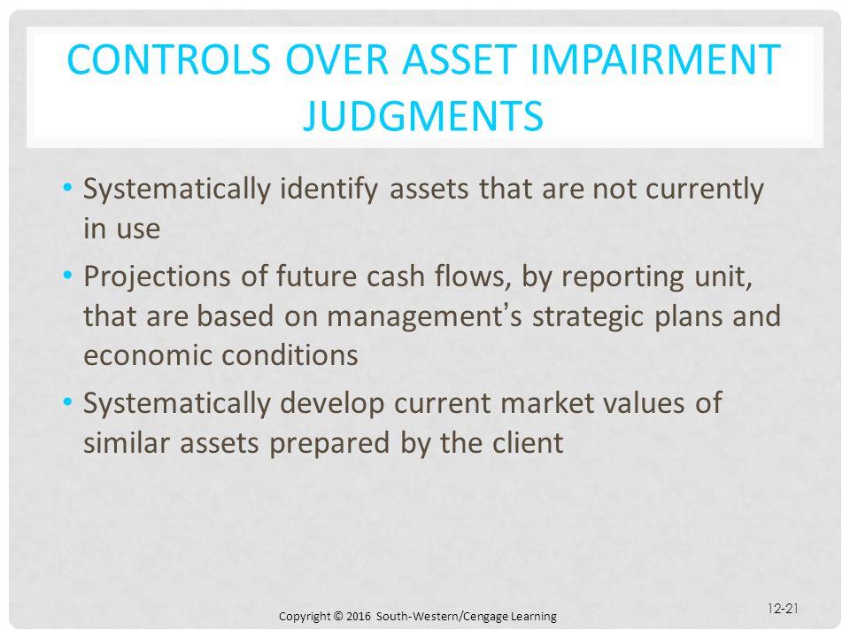 CONTROLS OVER ASSET IMPAIRMENT JUDGMENTS