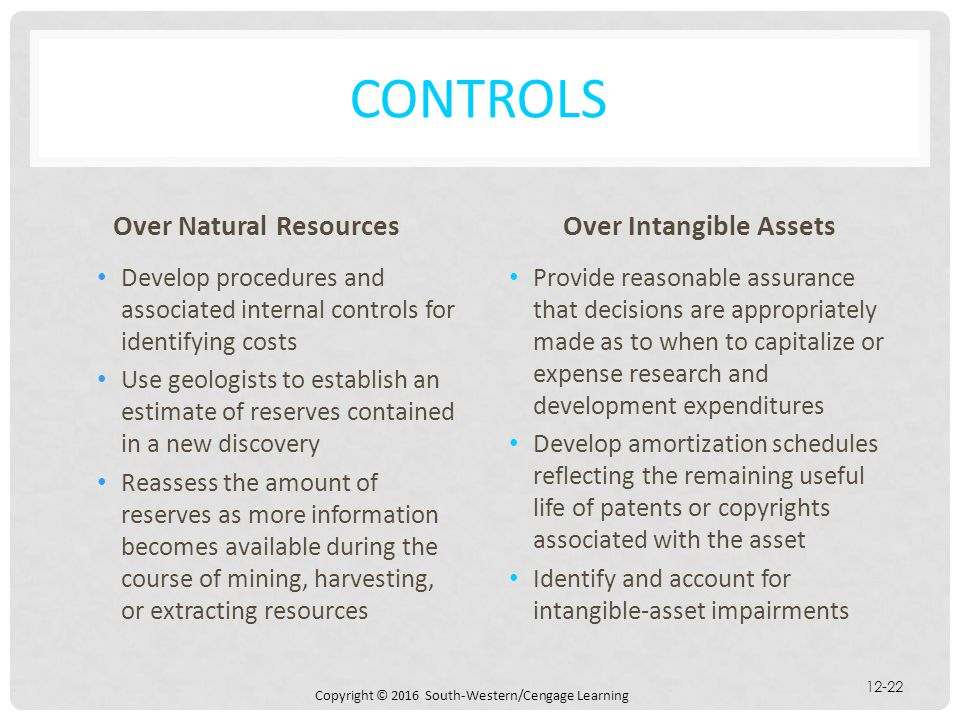 Over Natural Resources Over Intangible Assets