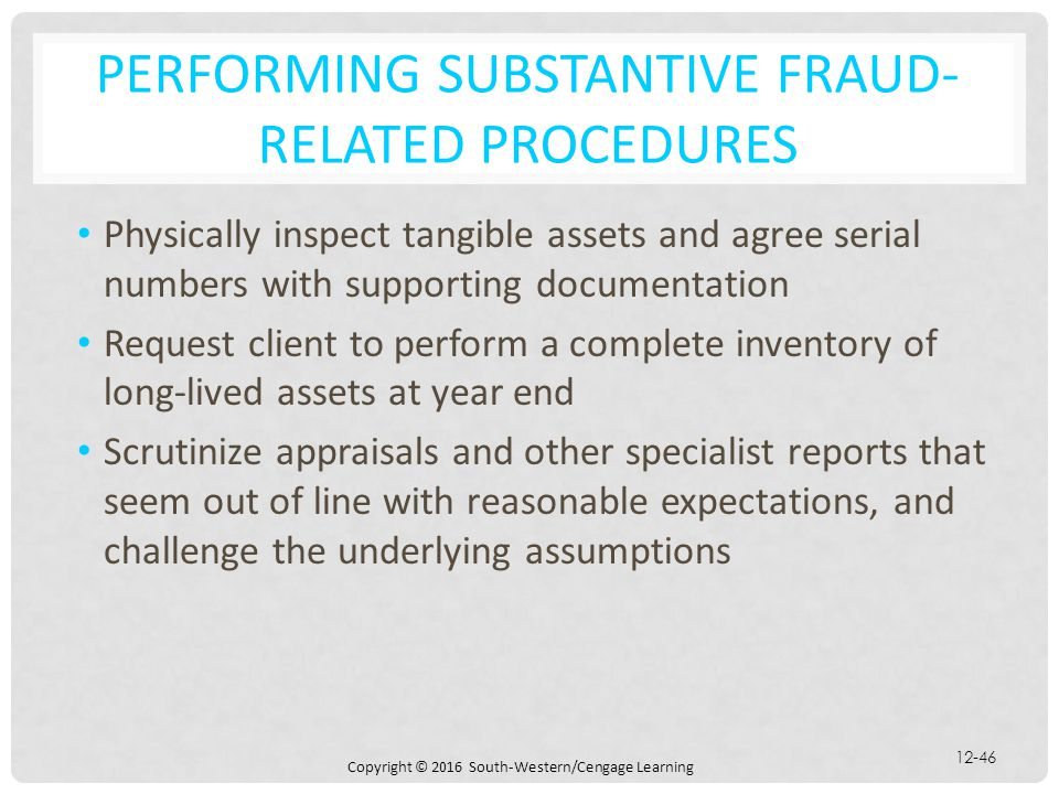 Performing Substantive Fraud-Related Procedures