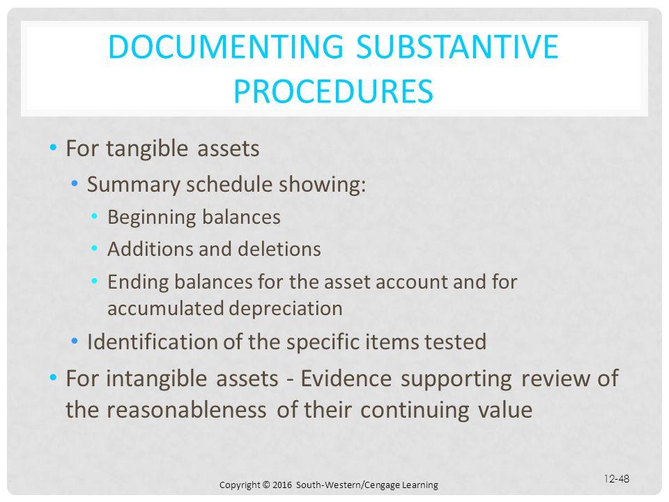 Documenting Substantive Procedures