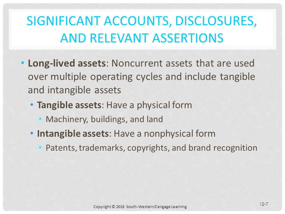 Significant Accounts, Disclosures, and Relevant Assertions